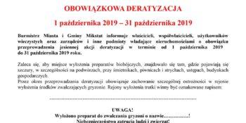 Zarządzenie Burmistrza Miasta i Gminy Mikstat