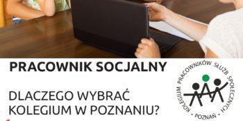 Informacja o naborze do Kolegium Pracowników Służb Społecznych w Poznaniu