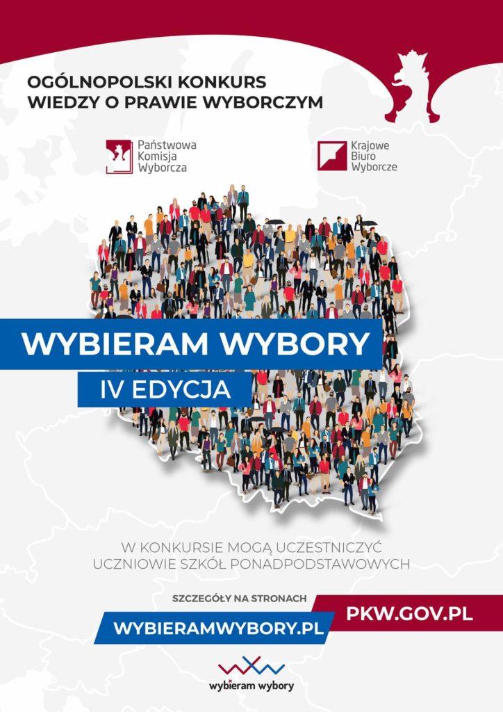 """Ogólnopolski konkurs wiedzy o prawie wyborczym """"Wybieram wybory"""" IV edycja."""
